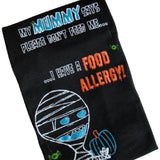 mummy and teal pumpkin food allergy awareness graphic