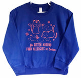 Food Allergy Awareness Kitten Sweatshirt