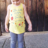 children's yellow graphic tank top