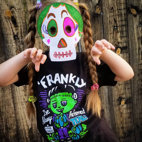 Warehouse Youth Frankenstein Food Allergy Halloween Tee