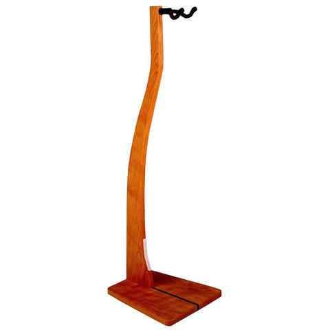 Cherry Wooden Guitar Stand - Handcrafted Solid Wood Floor Stand