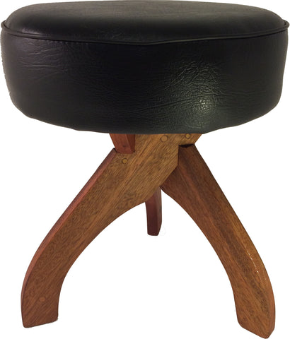 "Wooden 18"" Chair Height Stool - Handcrafted Hardwood Stool"