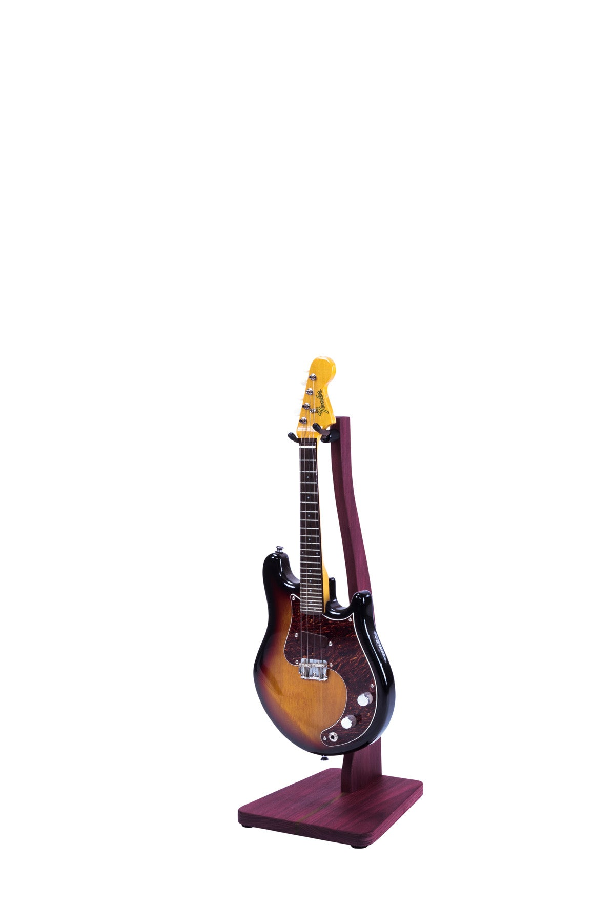 Zither Purple Heart Mandolin Stand
