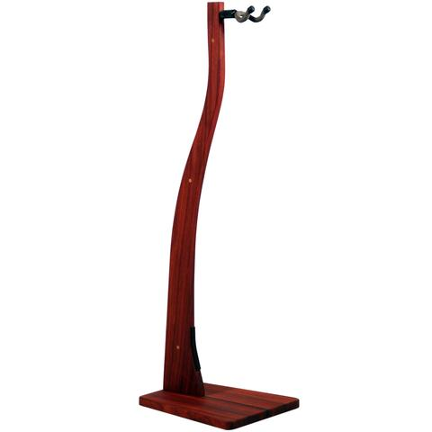 Paduak Wooden Guitar Stand - Handcrafted Solid Wood Floor Stand