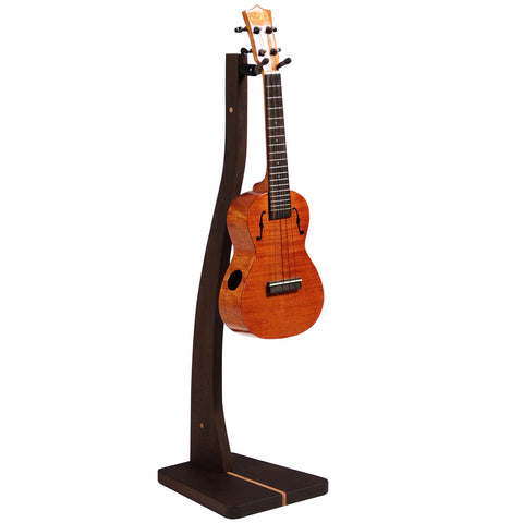 Wooden Ukulele Stand - Handcrafted Solid Wood Floor Stand