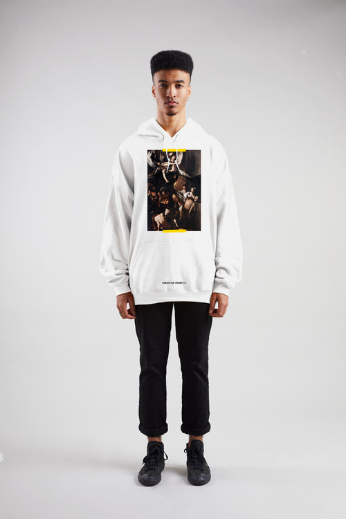7 Acts Of Mercy Hoodie | White