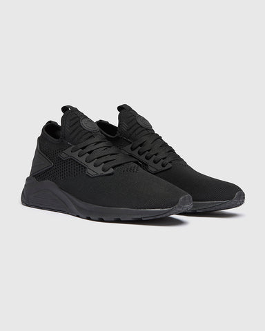 mens black trainers