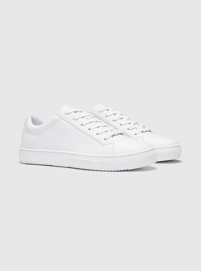 Jonas Mens Cupsole Trainer White
