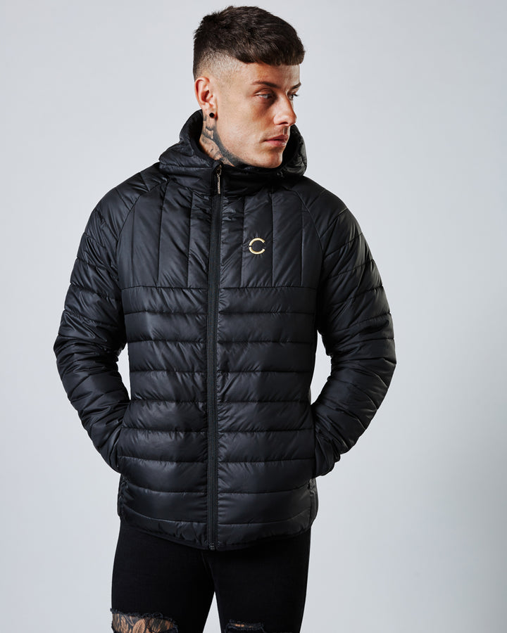 Ichihara Mens Puffa Jacket Black