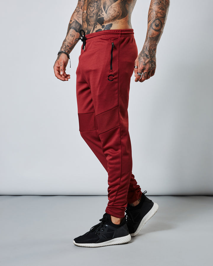 INZAI OX BLOOD RED SKINNY TRACK PANT