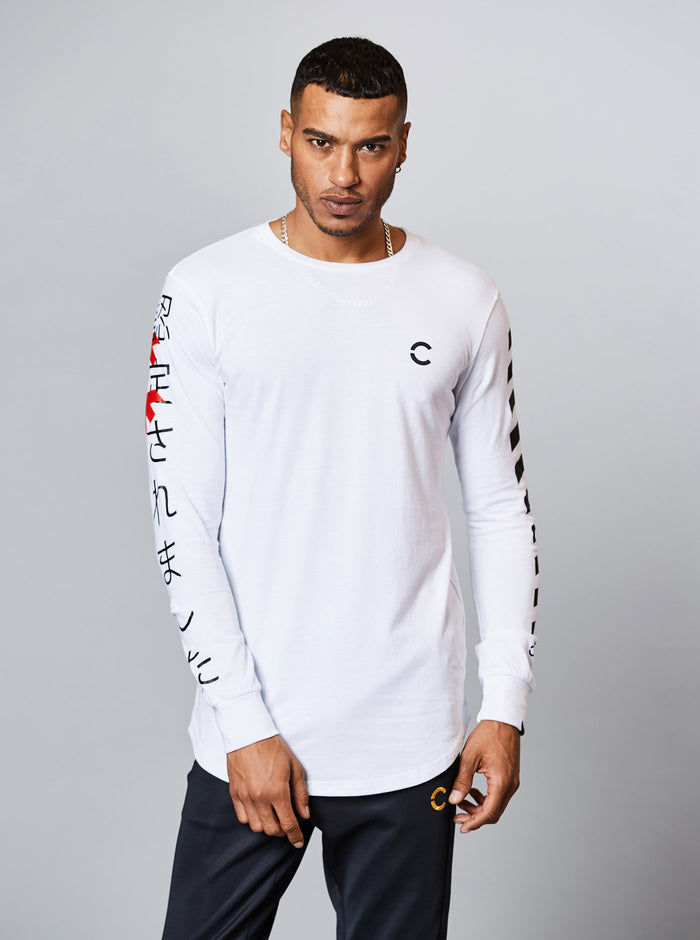 Ozu Mens Long Sleeve T-Shirt White