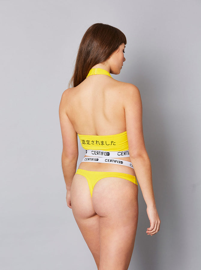 Tottori Womens Bralet Yellow