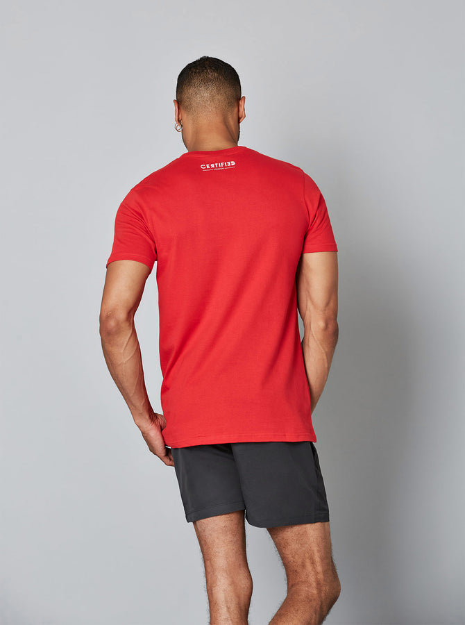 Toshima Mens T-Shirt Red