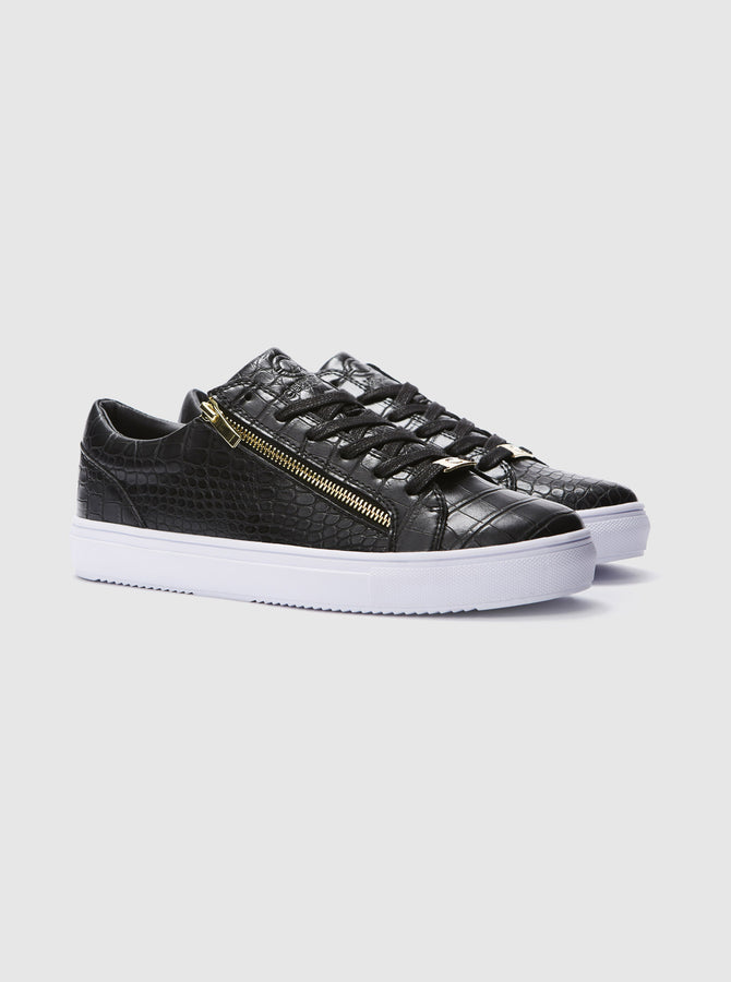 Amo Mens Cupsole Trainer Black-White