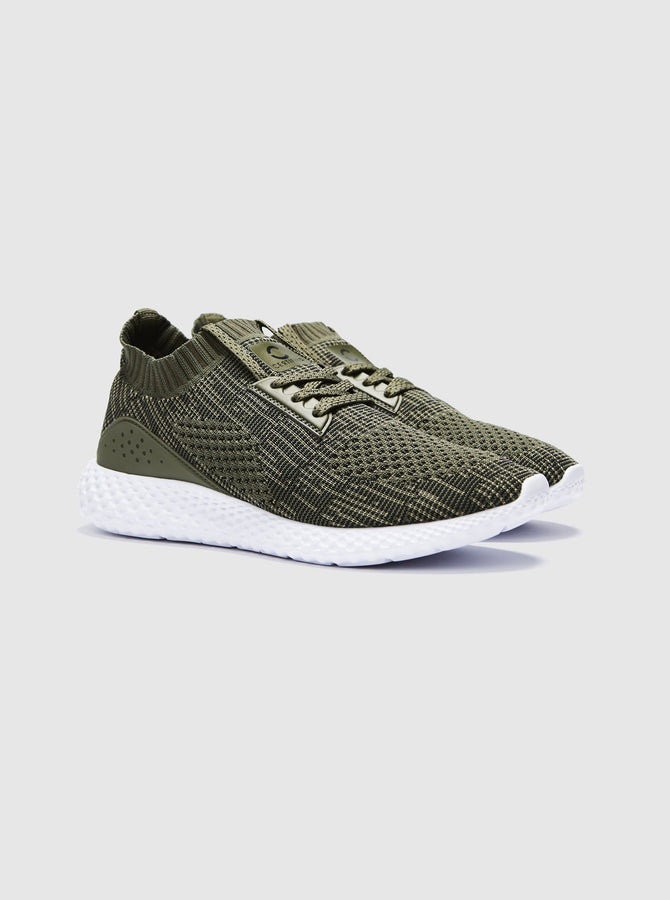 CT 2000 Mens Trainer Khaki-White