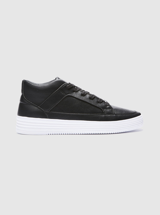 Blanco Mens Cupsole Trainer Black-White