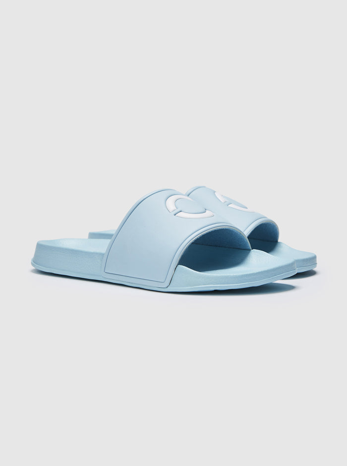 Palmero Mens Sliders Blue-White