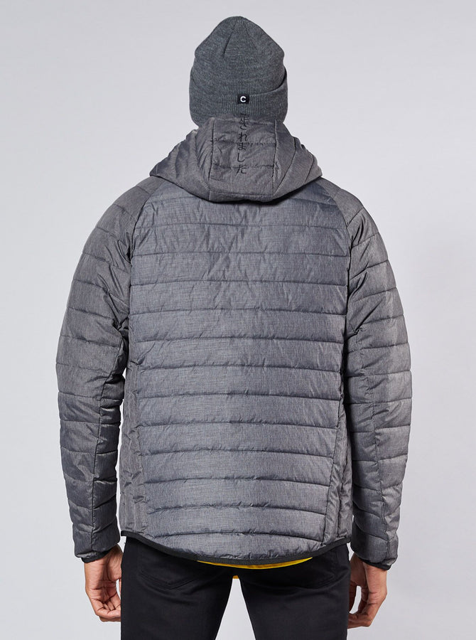 Ichihara Mens Puffa Jacket Grey