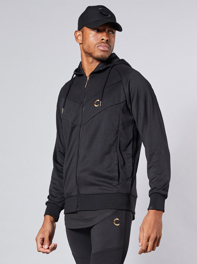 Kamagaya Mens Full Zip Hoodie Black