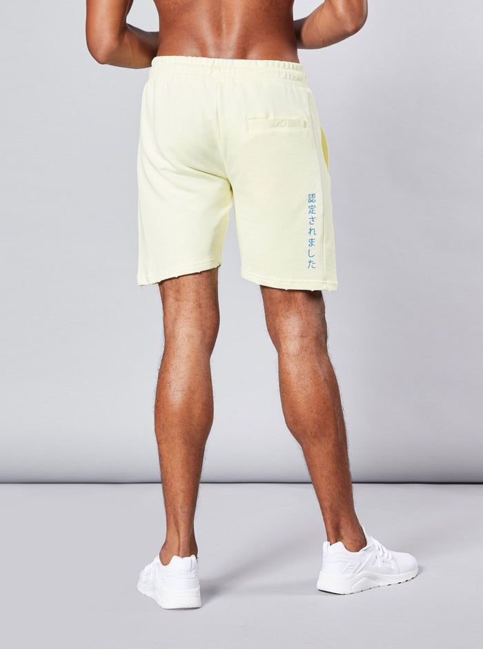 Kasuno Mens Shorts Yellow