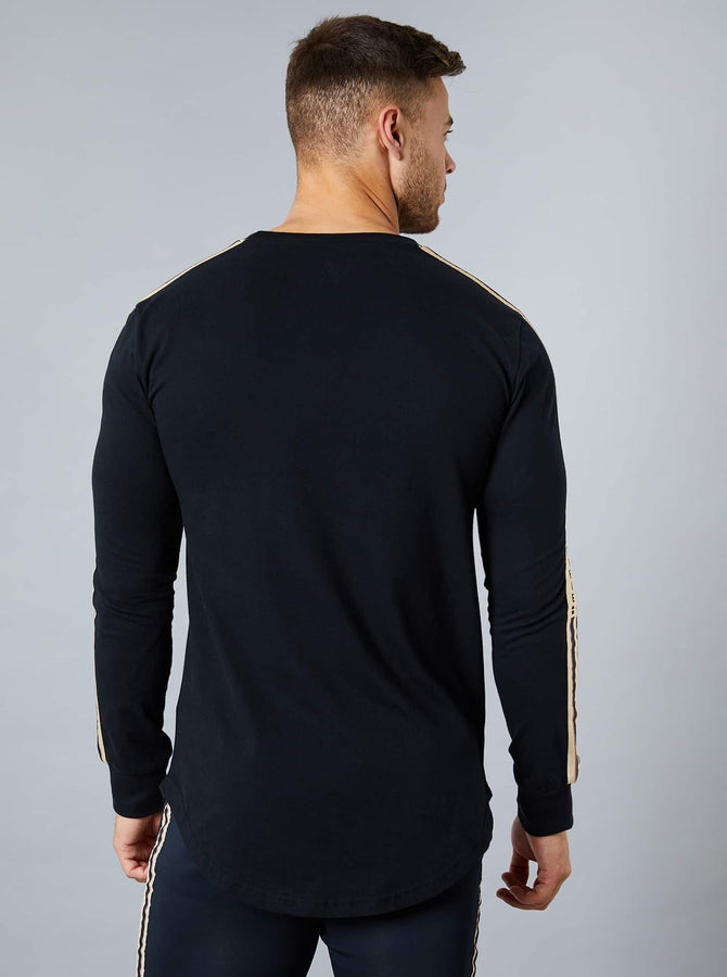 Nagano Mens Long Sleeve T-Shirt Black