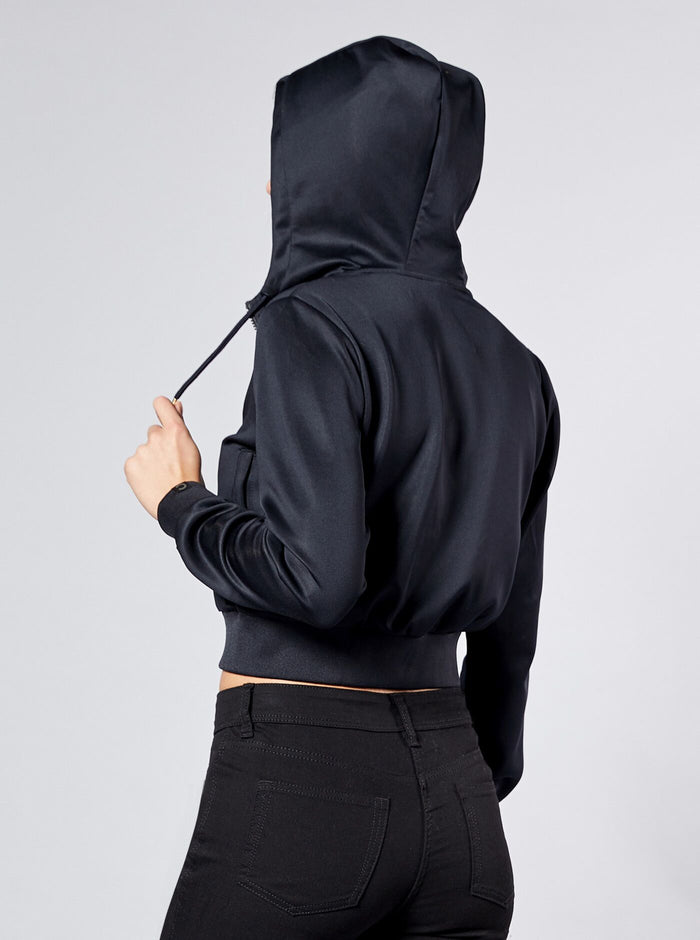 Naka Womens Full Zip Hoodie Black