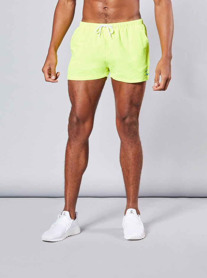 Ritto Mens Swim Shorts Yellow