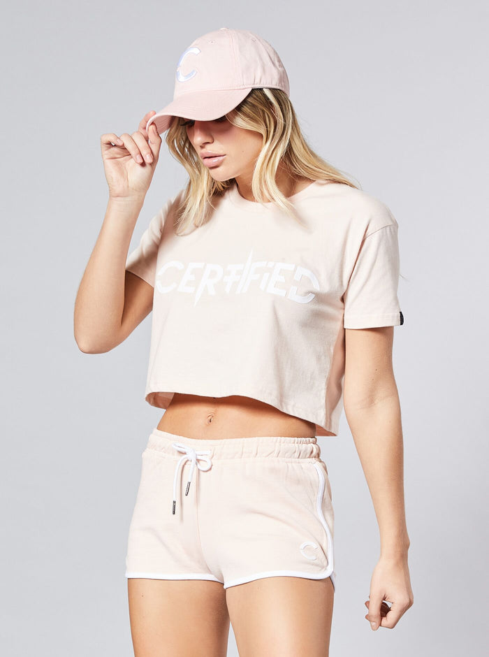Sun Rock Womens Crop Top Pink