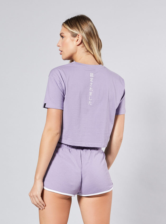Sun Rock Crop Tee Purple