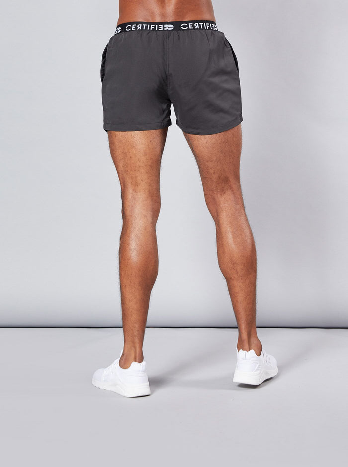 Unnan Mens Swim Shorts Black