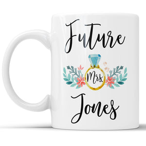 Custom Future Mrs. Name Coffee Mug