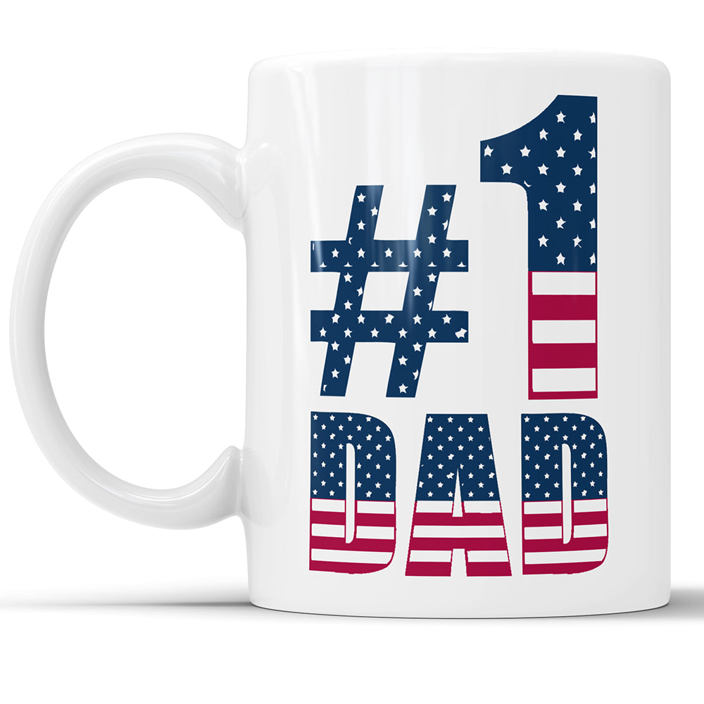 #1 Dad - Number One Dad Coffee Mug