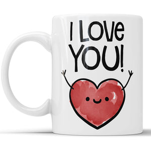 I Love You Cute Heart Coffee Mug