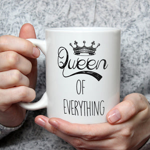 Queen Of Everything King Of What's Left - Funny Coffee Mug For Couples