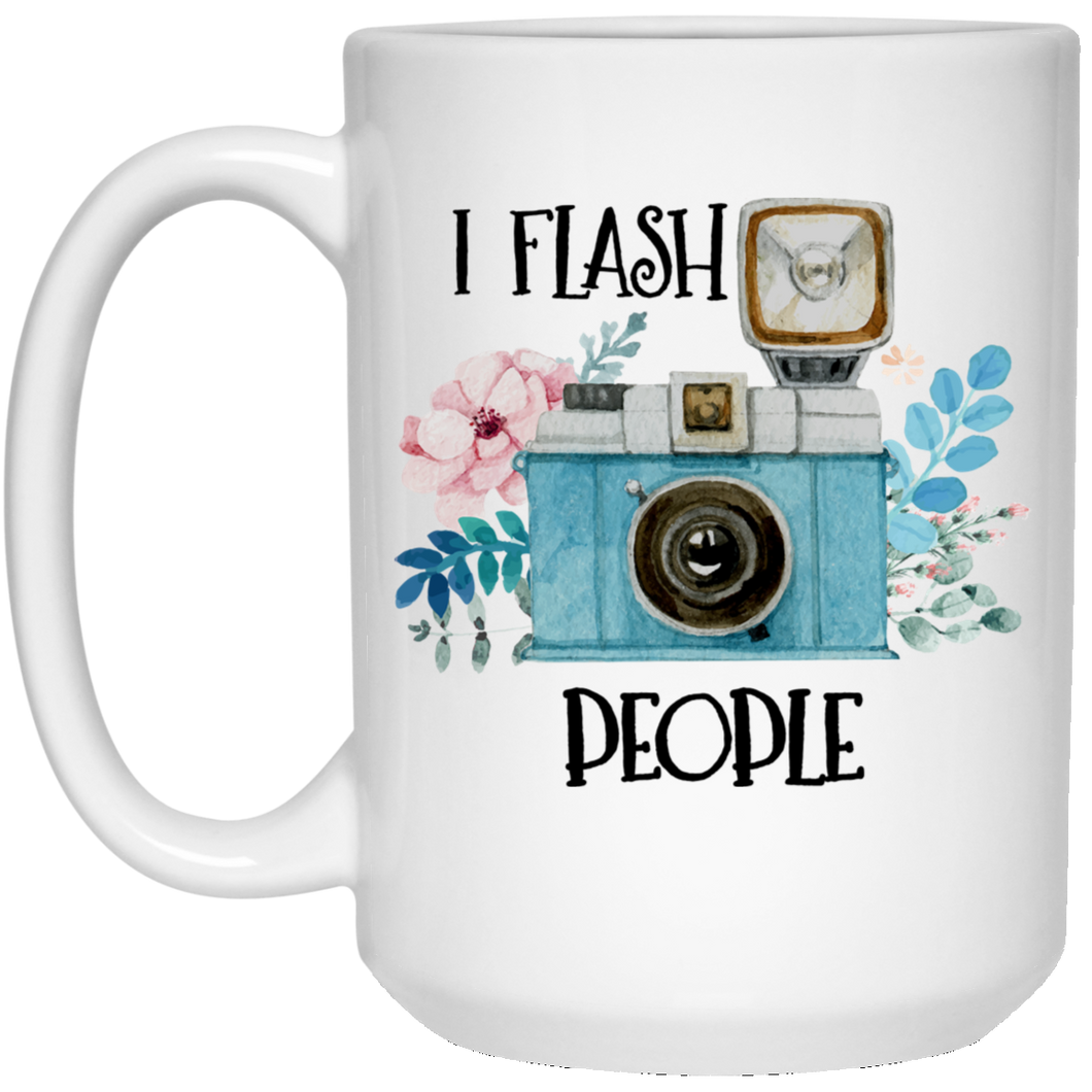 I Flash People 15 oz. White Mug