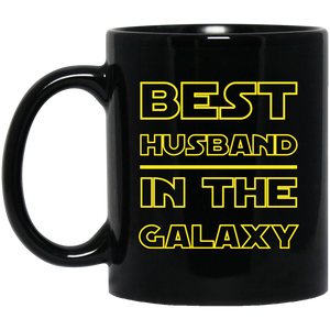 Best Husband In The Galaxy 11 oz. Black Mug