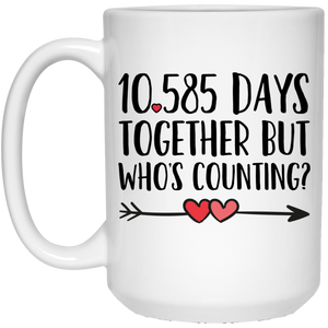 29th Anniversary 15 oz. White Mug