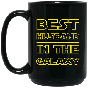 Best Husband In The Galaxy 15 oz. Black Mug