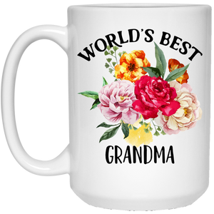 Worlds Best Grandma 15 oz. White Mug