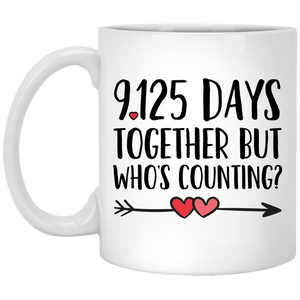 25th Anniversary 11 oz. White Mug
