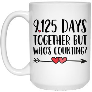 25th Anniversary 15 oz. White Mug
