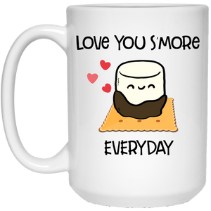 I Love You S'more 15 oz. White Mug
