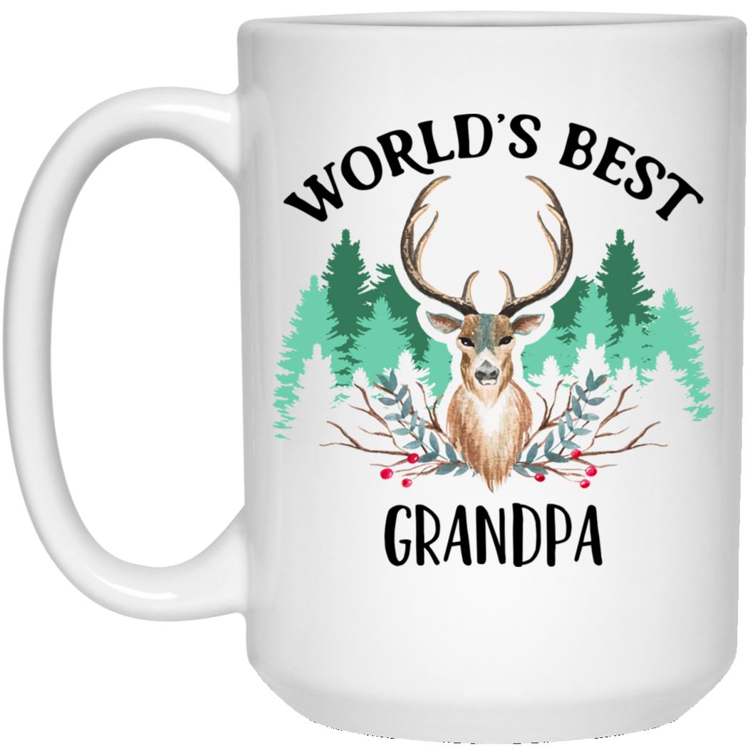 Worlds Best Grandpa 15 oz. White Mug