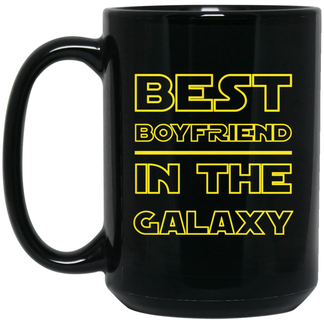 Best Boyfriend In The Galaxy 15 oz. Black Mug