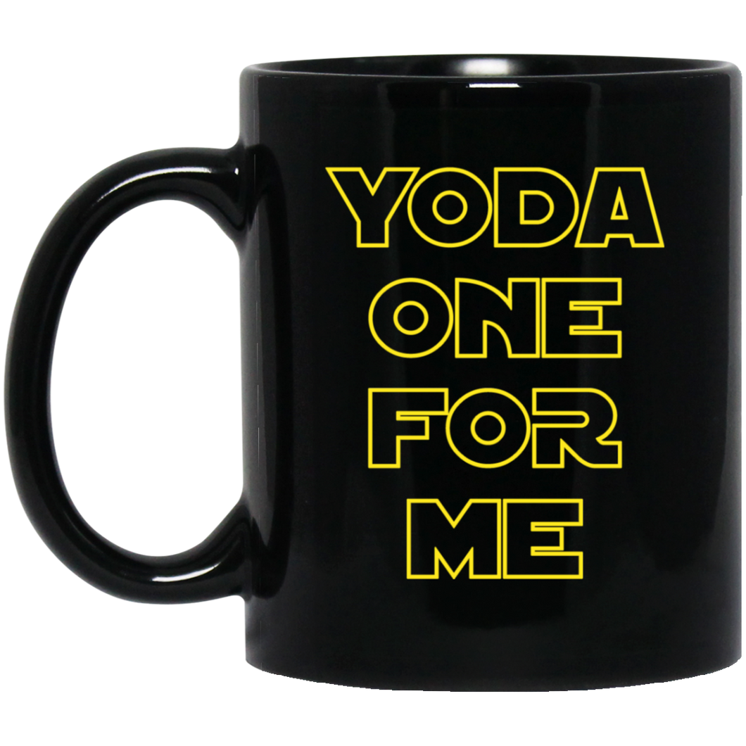 Yoda One For Me 11 oz. Black Mug