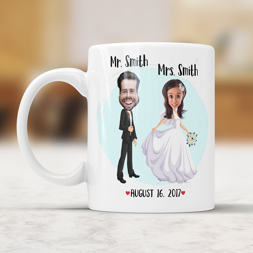 Custom Caricature Just Married Mug