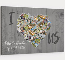 I Love Us - Photos of Us Collage Canvas Custom Personalized Wall Art