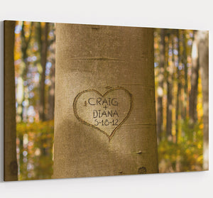 Lovers Tree - Personalized Wedding & Anniversary Canvas Wall Art