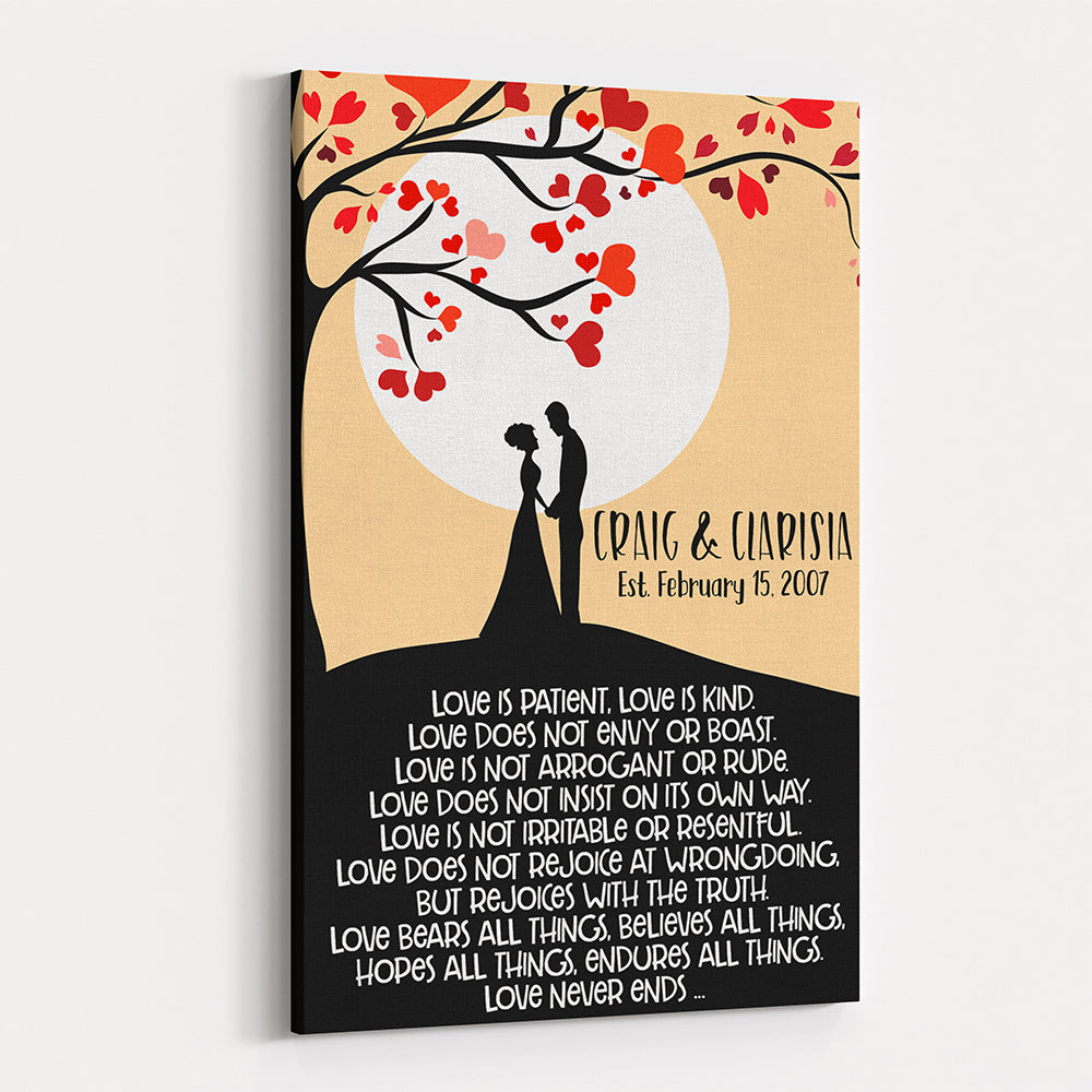 Love Tree - Personalized Wedding & Anniversary Canvas Wall Art ...