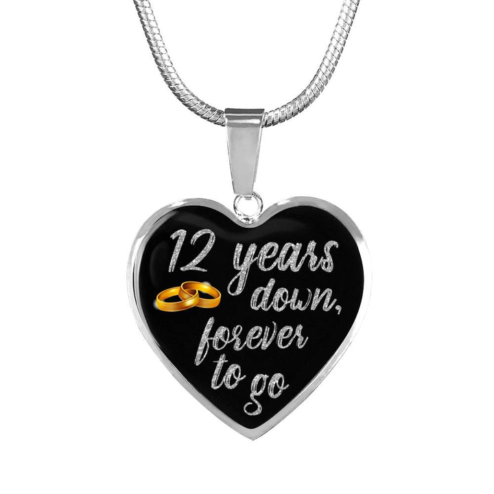 12 Year Anniversary Necklace Silver